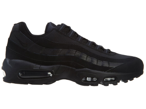 Nike Air Max '95 Mens 609048-092 Black Anthracite Mesh Running Shoes Size 9.5