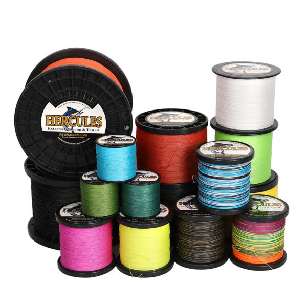 Hercules 1094 Yards 10 300LB PE Braided Fishing Line 8 Strand Resistant Abrasion