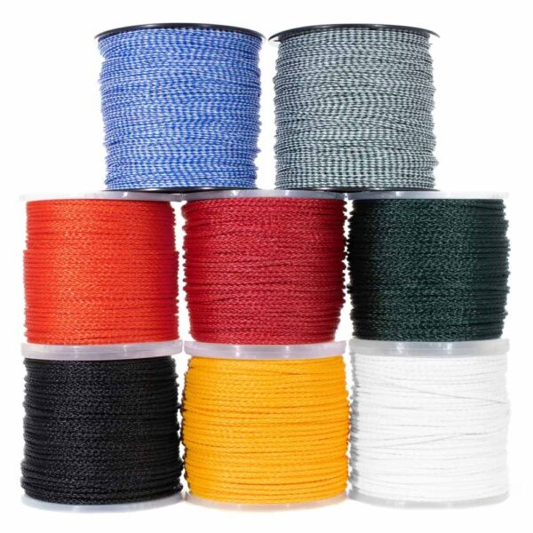 Hollow Braid Polypropylene Rope Marine Rope – Large Variety of Colors and Sizes