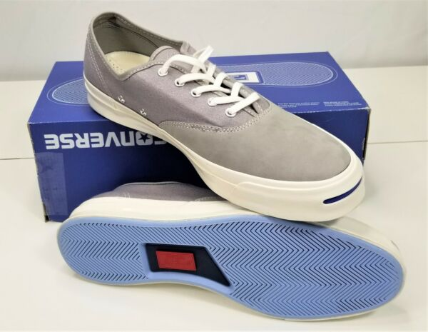 NEW CONVERSE JACK PURCELL SIGNATURE LIGHT GRAY MENS 10/WOMENS 11.5 -153593C