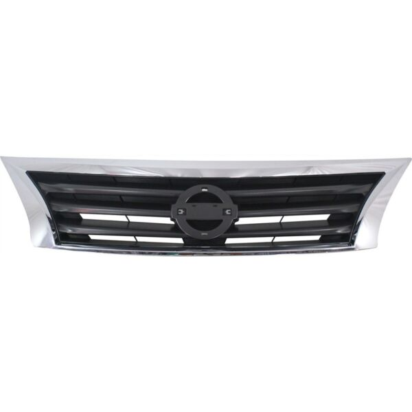 Front Upper Bumper Mounted Grille Black amp; Chrome Surrounding for Nissan Altima