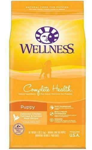 Wellness Complete Health Natural Puppy Chicken Oatmeal and Salmon Dry Dog Food