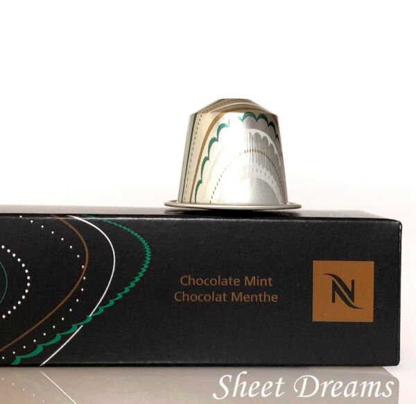 Nespresso Chocolate Mint Limited Edition Espresso  Coffee Capsules Pods