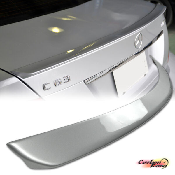 Item In LA PAINTED MB BENZ W204 A Type 4DR C-Class Trunk Spoiler #744/775