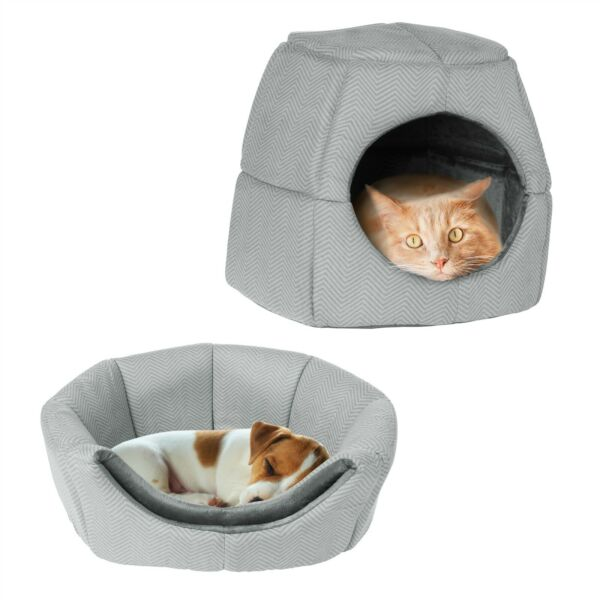 Convertible Pet Bed Cat Kitten Small Dog Cave Foam Cushion Removable Cushion $17.99