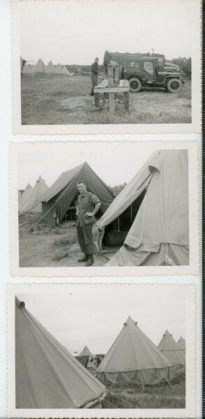 Canadian military tents vehicles CFB Gagetown New Brunswick Vintage snapshot lot