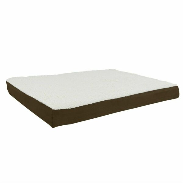 Orthopedic Dog Bed Memory Foam Cozy Sherpa 36 x 27 x 4 Washable Cover Large $33.99