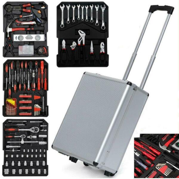 799 PCS Tool Set Mechanics Tool Kit Wrenches Socket w Trolley Case Box Organize