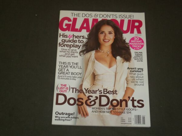 2006 JANUARY GLAMOUR MAGAZINE - SALMA HAYEK COVER - B 2996