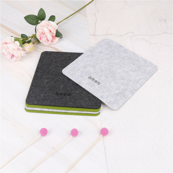 1Pc felt mouse pad thickening office computer table mat desktop mouse mattres LA