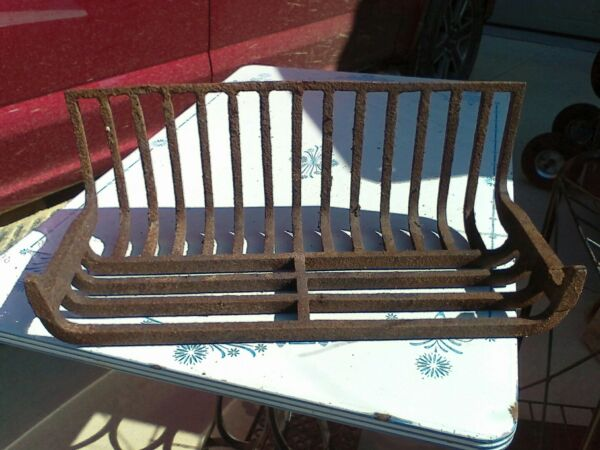 Antique Late 1800's Fireplace Log Holder grate cast iron wHook Victorian Home