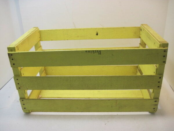 OLD WOOD PRODUCE MELON YELLOW CRATE BOX ADVERTISING