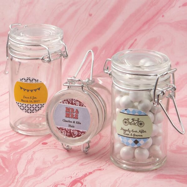 40 Personalized Apothecary Glass Jar Wedding Bridal Shower Party Gift Favors