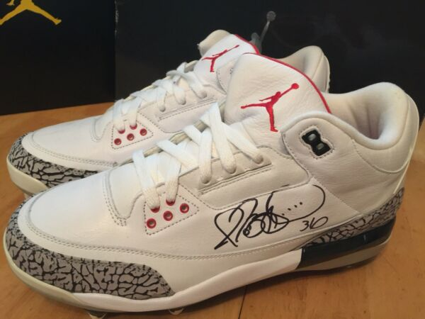 Air Jordan Retro 3D Football Spikes Size 11.5 New Signed By Jerome Bettis...Rare