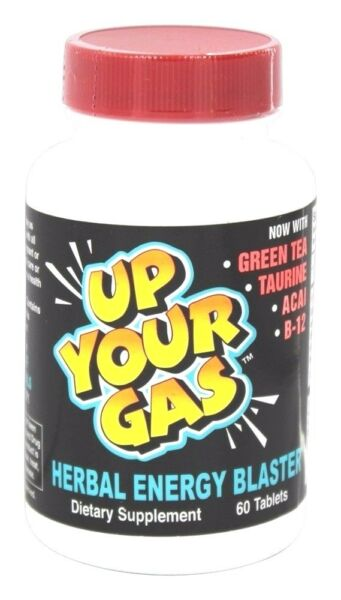 Hot Stuff UP YOUR GAS Energy Blaster 60 Tabs FOCUS STAMINA MENTAL CLARITY $21.99