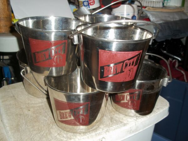 8 NEW BREW CITY BEER PARTY BUCKETS PAIL w HANDLES SERVING CONTAINER 5