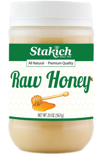 12 Jars of  20 oz 100% PURE NATURAL RAW HONEY ORGANICALLY PRODUCED