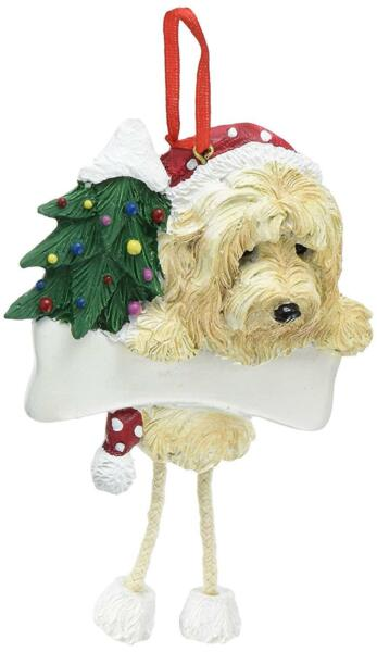 GOLDENDOODLE or LABRADOODLE Dangling Legs Dog Christmas Ornament by Eamp;S Pets $11.99