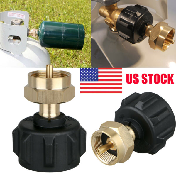 Propane Refill Adapter Lp Gas 1 Lb Cylinder Tank Coupler Bottles Heater Capming