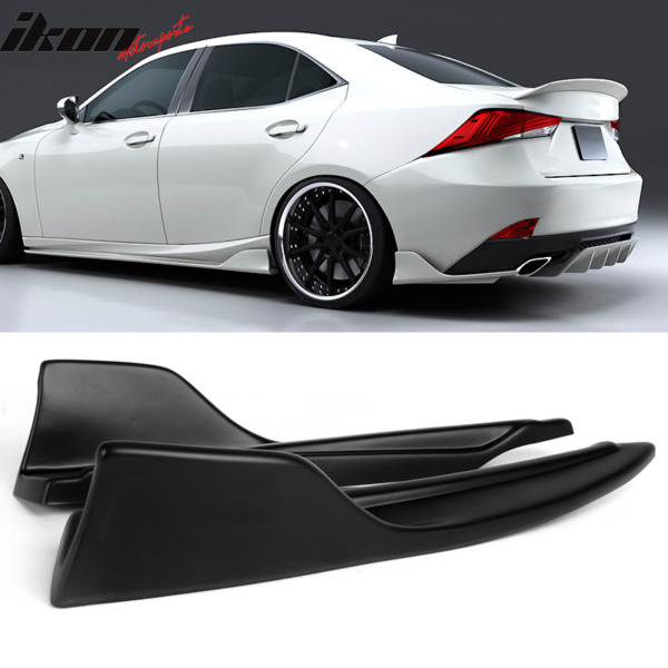 Fits 14 20 Lexus IS200t 250 300 350 AR Style Rear Bumper Lip Matte Black PP