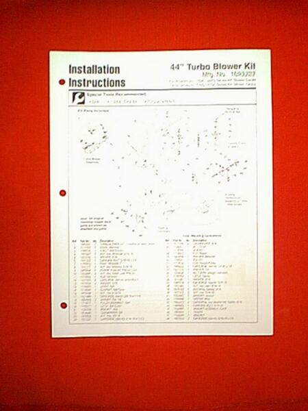 SIMPLICITY BROADMOOR LANDLORD TRACTOR 44quot; TURBO BLOWER ATTACHMENT PARTS MANUAL
