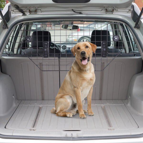 Adjustable Dog Barrier Pet Safty For SUV Vehicle Car Cargo Area Trunk Mesh Wire $37.99