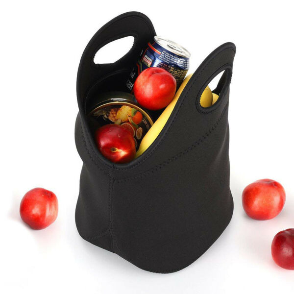 Neoprene Lunch Bag With Zipper Thick Insulated Durable Waterproof Lunch Tote