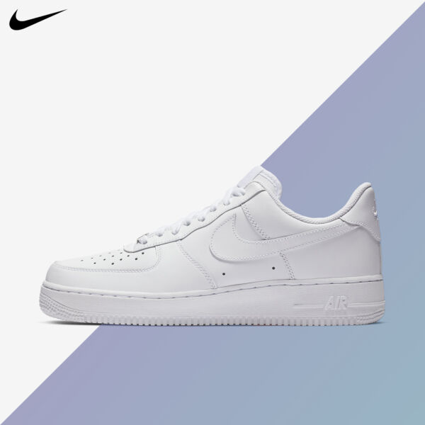 Nike Women's Air Force 1 '07 Triple White 2019 Casual Shoes WMNS New 315115-112