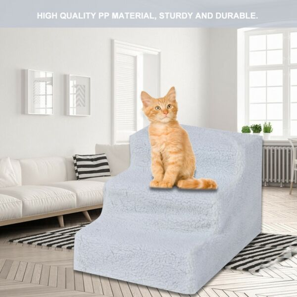 Soft Pet Stairs amp; Ramp Cat Step Bed Ladder Dog Stair Sofa White $18.89