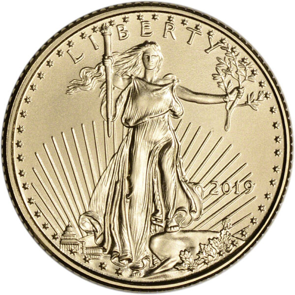 2019 American Gold Eagle 110 oz $5 - BU