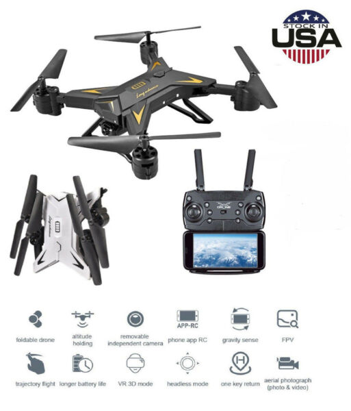 KY601S Drone RC Quadcopter With HD 5.0MP Camera 1080P Foldable 4CH Aircraft USA