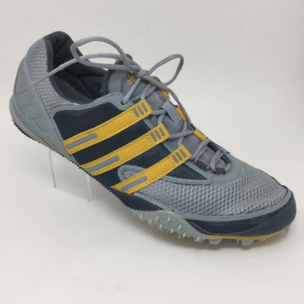 Adidas Adistar Track Spike Mens Size 12 Silver/Gray/Yellow 671543