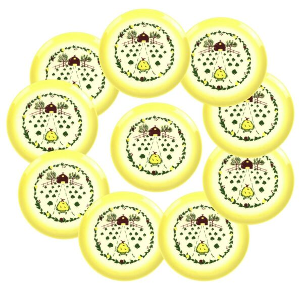 Vintage Brock California Set of Ten 11quot; Yellow Dinner Plates Farmhouse Barn Hay $119.99