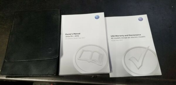 2017 VW JETTA GLI  JETTA OWNERS MANUAL AND CASE