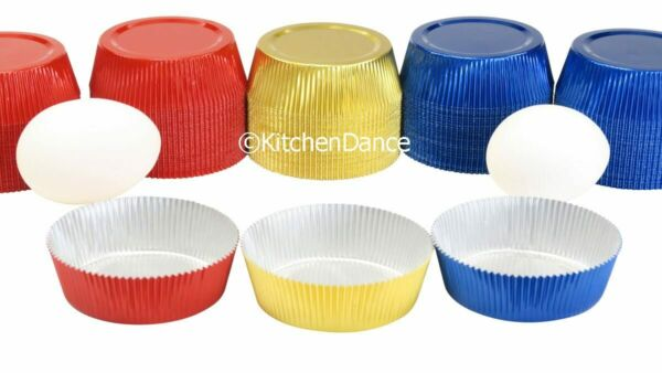 KitchenDance Disposable Foil Colored Baking Cups-Tart Shells-Cupcake liner #K106