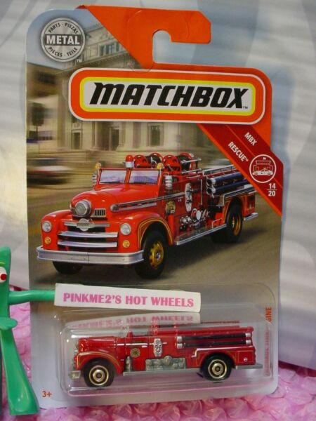 2019 Matchbox #55 SEAGRAVE FIRE ENGINE☆Red truck; Station 3VOLUNTEER ☆ Res