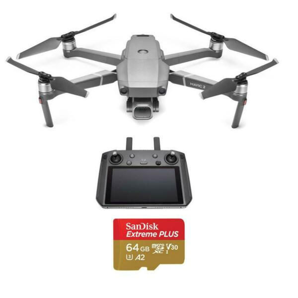 DJI Mavic 2 Pro Drone with Smart Controller - With 64GB MicroSDXC Card