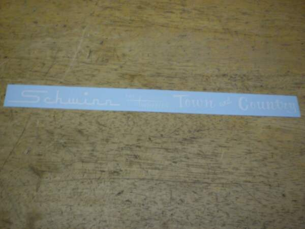 Schwinn Approved Town And Country Tri Wheeler White Bicycle Chainguard Decal $15.00