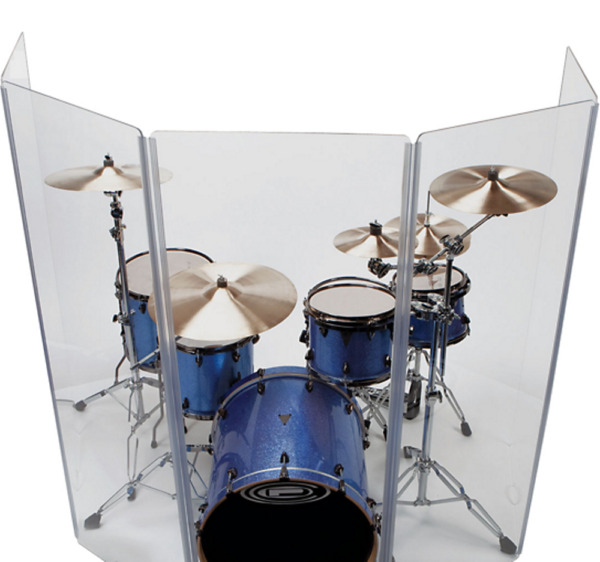 Drum ShieldDrum Screen Panels 5 Panels 2ftX5ft with Flexible Hinges