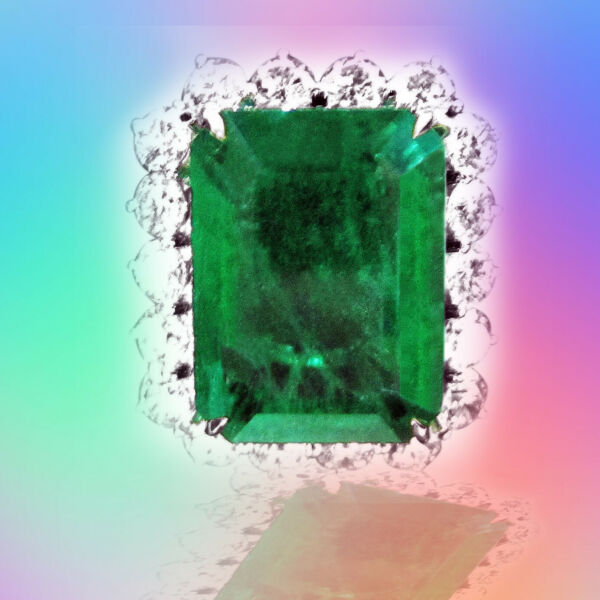 EMERALD RECTANGULAR 21.02MM LENGTH X16.60MM WIDTH X9.95MM DEPTH EMERALD RING