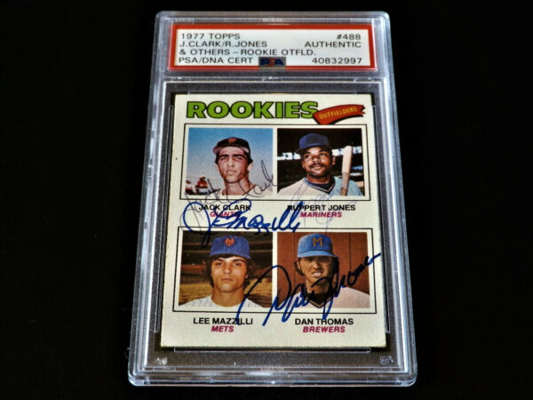 Dan Thomas 1977 Topps #531 Autographed Rookie Brewers Complete Auto PSADNA Rare