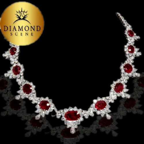 Ruby and Diamond Necklace 32.38 ct ruby 46.07 ct diamond