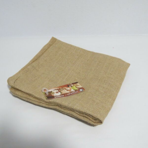 Canvas Corp Burlap Square Pillow 20 by 20 Inch Natural
