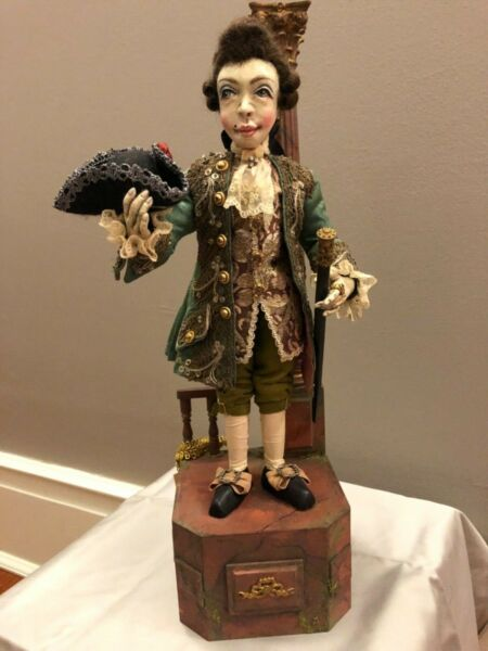 Peter Wolf German Artist The Young CavalierAutomaton Figural Art Sculpture OOAK