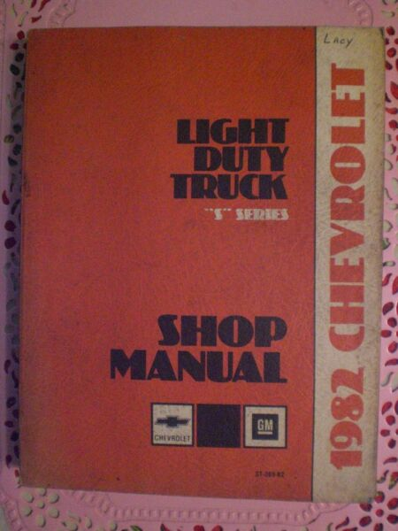 1982 Chevrolet Light Duty Truck Shop Manual