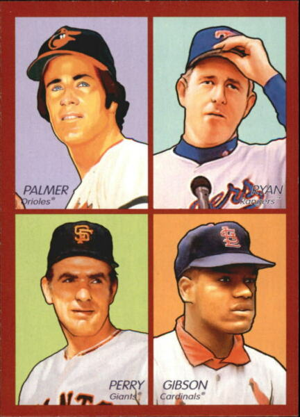 2009 Goudey 4in1 #28 Jim PalmerNolan RyanBob GibsonGaylord Perry