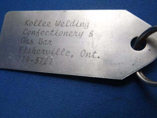 KOFFEE WELDING CONFECTIONERY amp; GAS BAR FISHERVILLE ONT ADVERTISING KEY RING