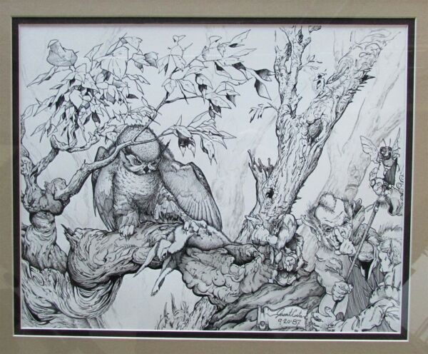 GRANT COSTA DRAWING GNOME-GOTIATIONS 1987 SIGNED