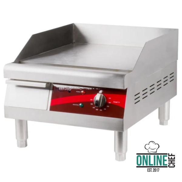 16quot; Electric Commercial Countertop Steel Flat Top Griddle Grill 120V 1750W Cook