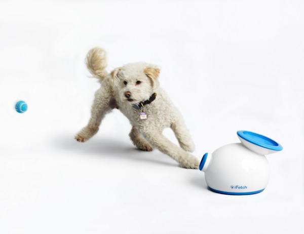 iFetch Interactive Ball Launcher for Dogs – Launches Mini Tennis Balls Small
